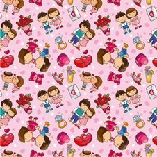 Free Seamless  Love Pattern Royalty Free Stock Images - 17997839