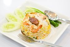 Free Fried Rice With Shrimp Royalty Free Stock Photography - 17997977