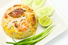 Free Fried Rice With Shrimp Stock Photography - 17998102