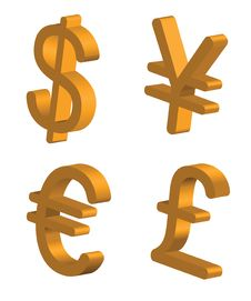 Free Currency Signs Royalty Free Stock Photography - 17998147