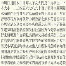 Kanji Set Stock Photo