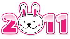 Free Rabbit Chinese New Year Stock Images - 17998804