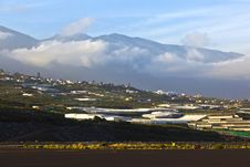 View From Airport La Palma To The Hills Stock Photo