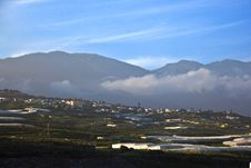 View From Airport La Palma To The Hills Royalty Free Stock Photo