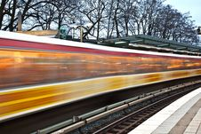 Free Train In Motion Royalty Free Stock Photos - 17999398