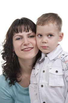 Free Mother And Son. Royalty Free Stock Photo - 17999685