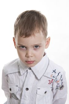 Serious Boy. Royalty Free Stock Images