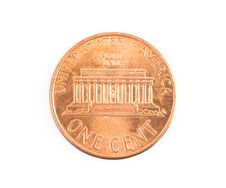 Free US One US Cent Coin Isolated Royalty Free Stock Photography - 17999827