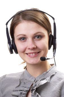 Free Friendly Call Center Operator Stock Photo - 17999830