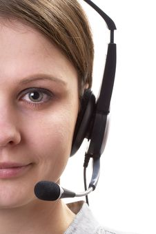 Free Friendly Call Center Operator Royalty Free Stock Image - 17999836