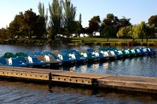 Free Paddle Boats In For Day Stock Image - 181581