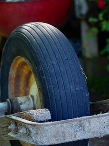 Old Wheel Barrel Royalty Free Stock Image