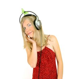 Free Music Girl Stock Photos - 185833
