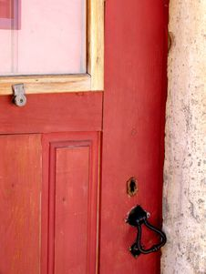 Free Traditional Door Detail Royalty Free Stock Photography - 186277