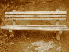 Free Sepia Bench Royalty Free Stock Photography - 186547