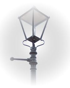 Free Victorian Lamp Post In Fog Royalty Free Stock Image - 187056