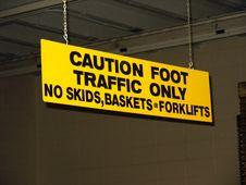 Free Warning Sign Stock Photography - 189802