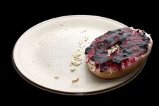 Free Breakfast Bagel & Jelly Stock Photos - 189943
