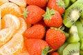 Free Mandarine, Strawberry And Kiwi Stock Image - 1802371