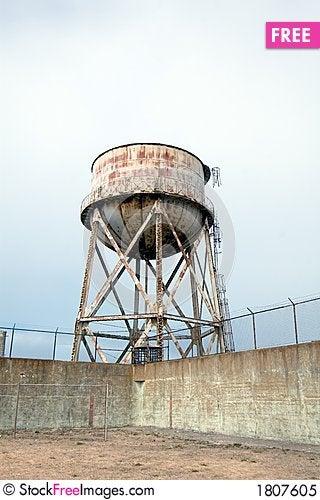 Free Exercise Yard At Alcatraz Royalty Free Stock Photo - 1807605