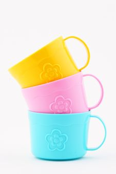 Free Stacked Tea Cups Royalty Free Stock Photography - 1800407