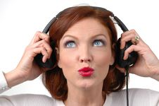 Free Woman With Headphones Stock Photography - 1800462