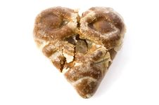 Free Broken Heart-shaped Cookie Royalty Free Stock Image - 1800746