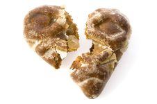 Free Broken Heart-shaped Cookie Stock Photo - 1800750