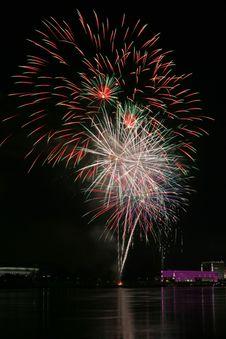 Free Fireworks Over The Danube In Linz, Austria 2 Stock Photo - 1802690