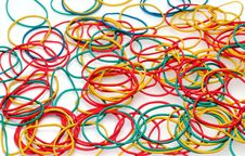 Colour Rubber Rings Royalty Free Stock Photos