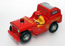 Fire Chief Toy Car With Driver