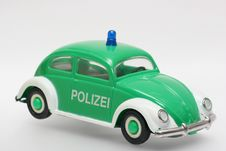 Free German Toy Police Car VW Beetle Stock Image - 1802841
