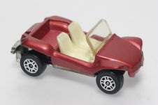 Metalic Red Beach Buggy Toy Car Stock Image