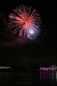 Free Fireworks Over The Danube In Linz, Austria 6 Stock Images - 1802914