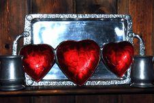 Free 3 Hearts Royalty Free Stock Photos - 1804248