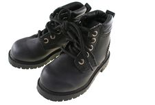 Free Pair Of Childrens Black Boots Royalty Free Stock Images - 1804449