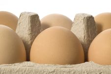 Free Eggs In A Grey Cardboard Carton Boxeggs Stock Images - 1805654