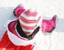 It Is Hard Work Sledding All Day Stock Images