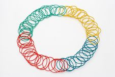 Colour Rubber Rings 3 Royalty Free Stock Photography