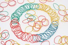 Colour Rubber Rings 4 Royalty Free Stock Photos