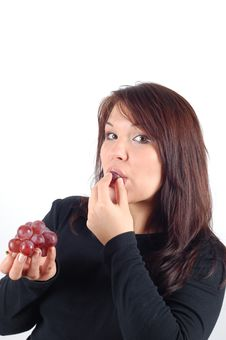 Free Grapes Tasting 3 Stock Image - 1807751