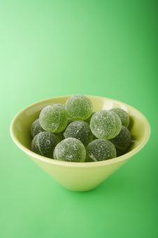 Green Marmalade Balls Stock Images