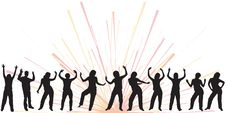 Free Dancing Silhouettes Stock Photos - 1808453