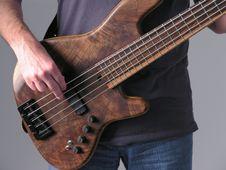Bass Guitar Musician 1 Stock Photo
