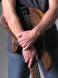 Bass Guitar Musician 2 Stock Images