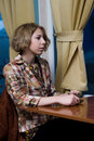 Free Girl At Coffee Shop Stock Photos - 18005413