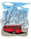 Free Bus In The City Downtown Stock Photography - 18007672