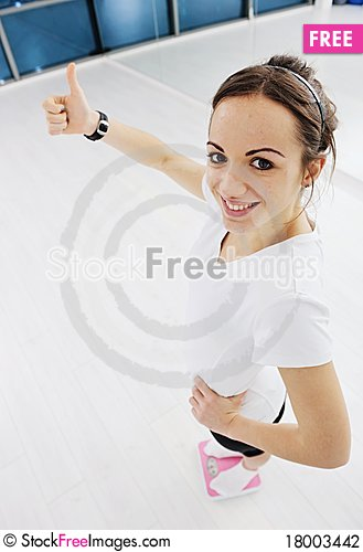 Free Woman Fitness Workout With Weights Stock Photography - 18003442