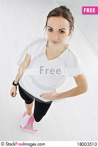 Free Woman Fitness Workout With Weights Stock Photo - 18003510