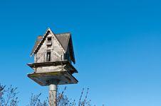 Free Birdhouse With Blue Sky Royalty Free Stock Photo - 18000305